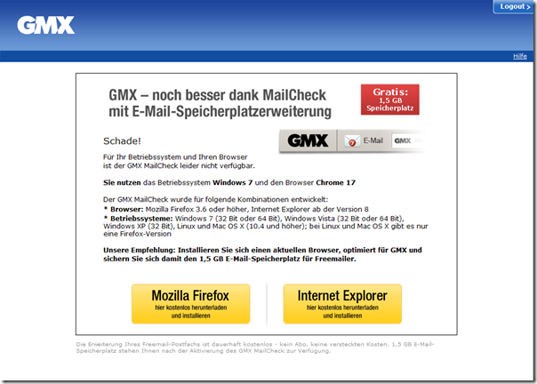 GMX - 500 MB mehr Speicherplatz