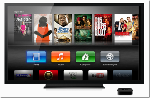 Apple TV 3 - Benutzeroberfläche